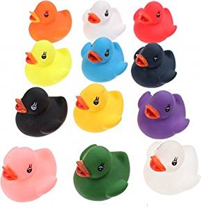 12 Bath ducks for kids