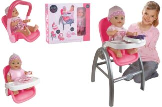 3 in 1 Baby Doll High Chair Car Seat Playset