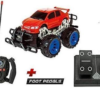Remote Controlled Monster Car With Steering Wheel & Pedals Best Toys For Boys