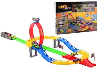racing loop tracks For kids with 4 cars toy